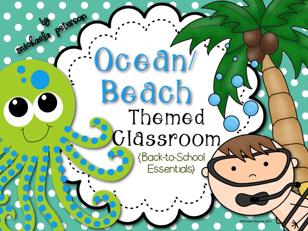 Summer Themed Classroom Decorations ~ Oceans of fun ocean beach classroom theme we heart edu